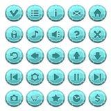 Комплект кнопок льда круглых иллюстрация вектора