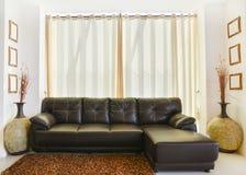 Комплект кожаной мебели стоковая фотография rf