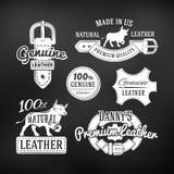 Комплект кожаных качественных дизайнов вектора товаров Стоковые Изображения RF