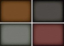 Комплект кожаных текстур Стоковое Изображение RF
