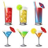 Комплект коктеила Стоковое Изображение RF