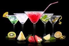 Комплект коктеиля спирта с плодоовощами лета Стоковая Фотография