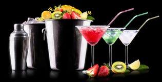 Комплект коктеиля спирта с плодоовощами лета Стоковое Изображение