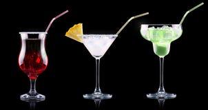 Комплект коктеиля спирта с плодоовощами лета Стоковые Изображения
