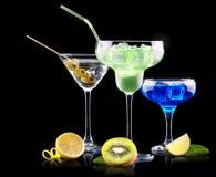 Комплект коктеиля спирта с плодоовощами лета Стоковые Фото