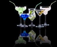 Комплект коктеиля спирта Стоковые Фотографии RF