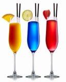 Комплект коктеиля спирта Стоковое фото RF