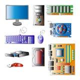 Комплект компонентов для компьютера Стоковые Изображения