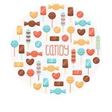 Комплект конфеты Стоковые Изображения RF