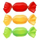 Комплект конфет в оболочках цвета Стоковое Изображение
