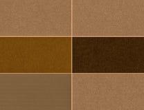 Комплект коричневых текстур Стоковое Изображение