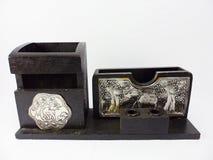 Комплект коробки круглой древесины Стоковая Фотография