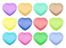 Комплект коробок сатинировки в форме сердца Стоковая Фотография