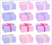 Комплект коробок Иллюстрация вектора