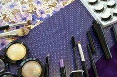 комплект косметик декоративный Стоковое Фото
