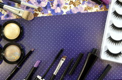 комплект косметик декоративный Стоковое Изображение RF
