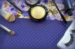 комплект косметик декоративный Стоковая Фотография RF
