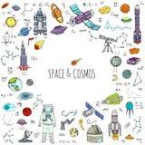 Комплект космоса и космоса стоковое изображение