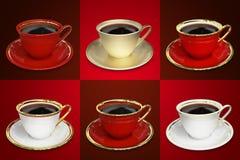 Комплект кофейной чашки Иллюстрация штока