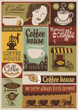 Комплект кофе ретро Стоковое фото RF