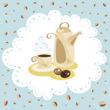 Комплект кофе салфеток иллюстрация вектора