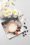 комплект кофе для предпосылки меню Стоковая Фотография RF