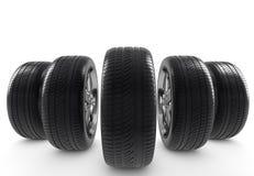 Комплект колес Стоковое Изображение