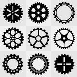 Комплект колес шестерни иллюстрация вектора