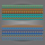 Комплект красивых винтажных богато украшенных знамен Стоковые Изображения RF