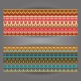 Комплект красивых винтажных богато украшенных знамен Стоковая Фотография