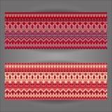 Комплект красивых винтажных богато украшенных знамен Стоковое Изображение
