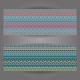 Комплект красивых винтажных богато украшенных знамен Стоковое фото RF