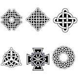 Комплект красивых кельтских картин Стоковое Изображение RF