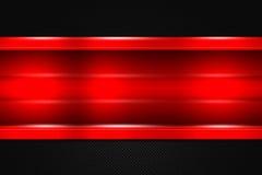 Комплект 9 красная и черная предпосылка металла Стоковая Фотография