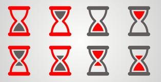 Комплект красного цвета часов, серый Стоковые Изображения