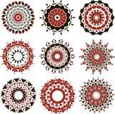 Комплект красного hamsa Стоковые Изображения RF