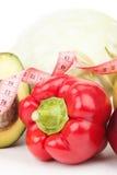 Комплект красных болгарского перца, авокадоа и капусты Стоковая Фотография RF