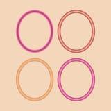 Комплект красных и розовых рамок Стоковое фото RF