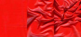 Комплект красных кожаных текстур Стоковое Изображение RF