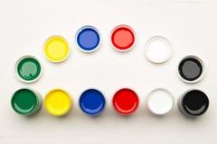 Комплект красок на белой предпосылке Стоковое Фото