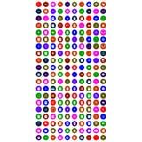 Комплект красочного всеобщего значка бесплатная иллюстрация
