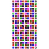 Комплект красочного всеобщего значка иллюстрация вектора