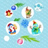 Комплект красочного рождества Стоковое Изображение