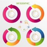 Комплект красочное infographic Стоковые Фотографии RF