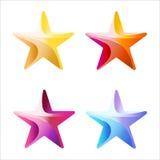Комплект красочными цвета обнажанного звездами Стоковая Фотография RF