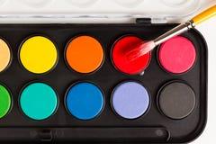 Комплект красочных акварелей Стоковое Изображение