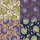 Комплект 4 красочных безшовных картин. EPS-8. иллюстрация вектора