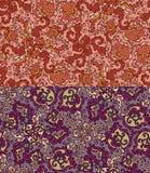 Комплект 2 красочных безшовных картин. EPS-8. иллюстрация штока