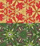Комплект 2 красочных безшовных картин. EPS-8. бесплатная иллюстрация