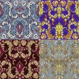 Комплект 4 красочных безшовных картин EPS-8 Стоковые Фото